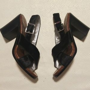 Sam Edelman animal hair black sandle size 7,5